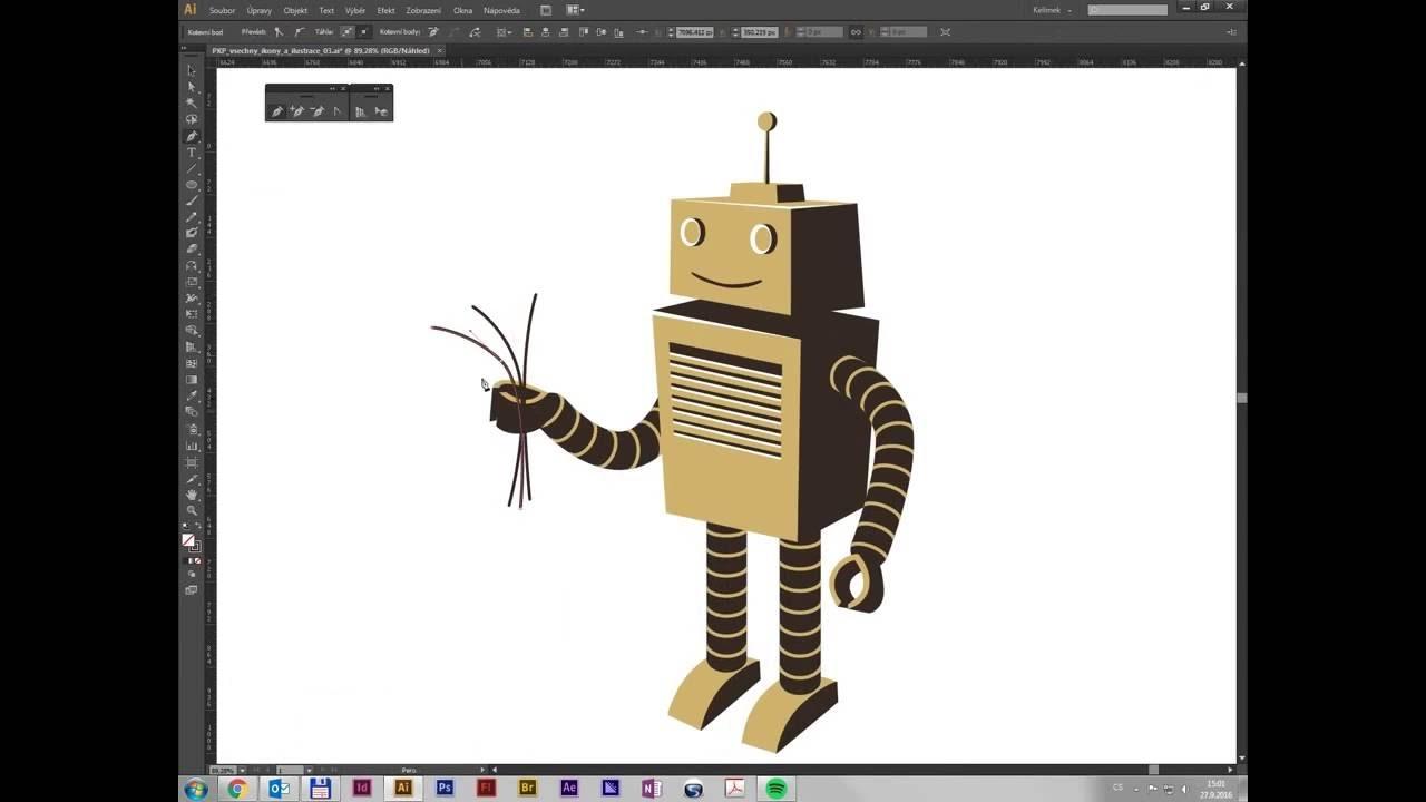 Kresba Robota Pro Prvni Klubovou Youtube