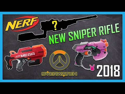 NEW 2018 Nerf Sniper Rifle, Mega Accustrike Bulldog, Overwatch D.Va Gun, and more! | Nerf News thumbnail