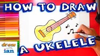 How to Draw a Cartoon Ukulele