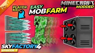 Sky Factory 4   EASY MOB FARM   Minecraft   Episode 7