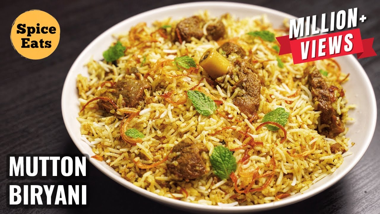 SIMPLE MUTTON BIRYANI FOR BEGINNERS | MUTTON BIRYANI WITH BIRYANI MASALA | MUTTON BIRYANI RECIPE