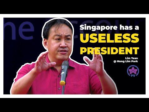Singapore has a Useless President: Lim Tean Live @ Hong Lim Park