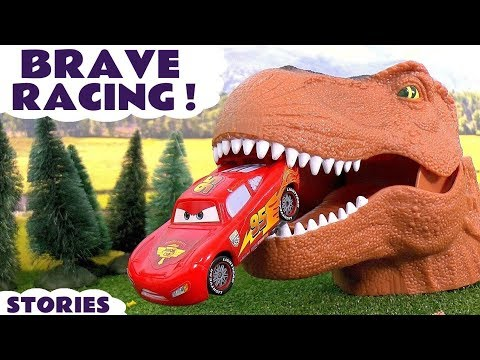 Disney Cars Toys Scary Racing with Dinosaur and Hot Wheels Cars for Kids Spiderman Batman TT4U