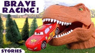 Disney Cars Toys Racing with Dinosaur and Hot Wheels Cars for Kids Spiderman Batman TT4U