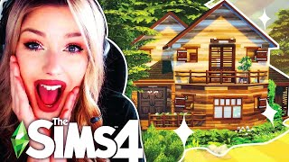 I'm Only Allowed to Use ONE MATERIAL To Build a House in The Sims 4 🌲WOOD ITEMS ONLY BUILD CHALLENGE