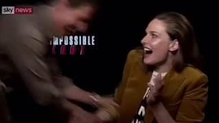 Rebecca Ferguson and Tom Cruise 💕