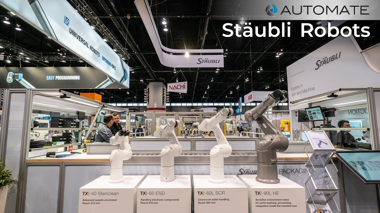Stäubli SCARA, 6-axis, FAST picker, collaborative robots at