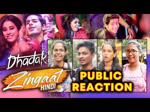 Zingaat Hindi Vs Zingaat Marathi Song | PUBLIC REACTION | Janhvi, Ishaan, Parshya, Archie