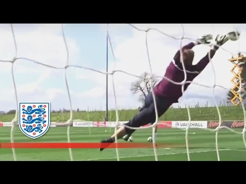 Intense Shot Stops From England's Goalkeepers | Inside Training