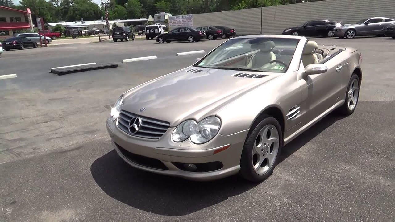 Exceptional 2004 MERCEDES BENZ SL500 HARDTOP CONVERTIBLE / JUST 4 YOU JERRY   YouTube