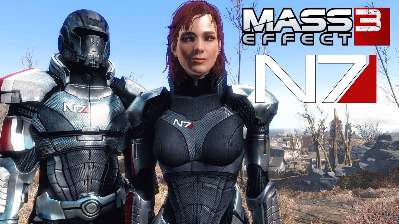 Fallout 4 mass effect 3 n7 armor showcase commander shephard armor fallout 4 mass effect 3 n7 armor showcase commander shephard armor mod x1 pc youtube maxwellsz