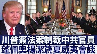 蓬佩奧楊潔篪夏威夷會談 川普簽法案制裁中共官員|新唐人亞太電視|20200619