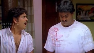 Nagarjuna and Sunil Hilarious Comedy Scene || Mass Movie || Jyothika, Charmi