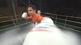 体感☆フリッカージャブ ボクシングマンガの必殺技を体感 #1