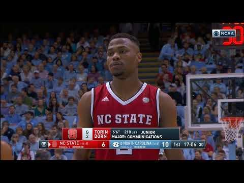 2018.01.27 NC State Wolfpack at #10 North Carolina Tar Heels Basketball