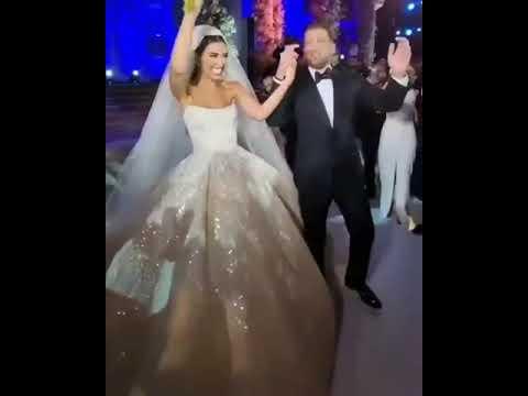 الإعلمية اللبنانية جيسيكا عازار تحتفل بزفافها من محمد صوفان إبن الجنوب