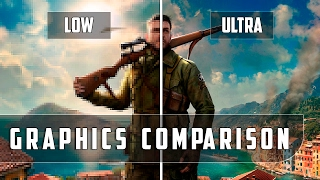 Sniper Elite 4 - PC - Low vs Ultra - Graphics Comparison