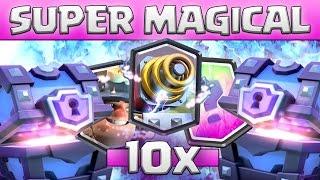 10x SUPER MAGICAL CHEST OPENING || 50k GEMS • Clash Royale deutsch