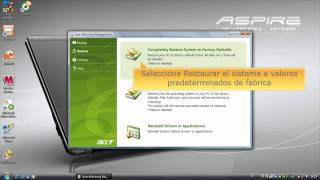 Acer eRecovery - Restaurar el sistema a valores predeterminados de fabrica