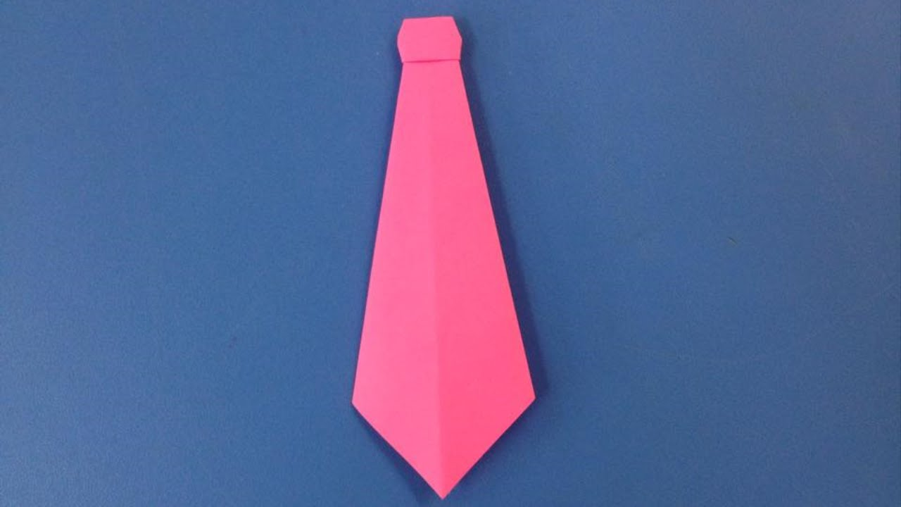 How to make a paper neck tie | Easy origami neck ties for ...