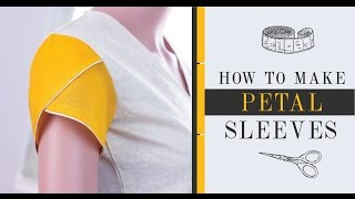 Class 37 - Part 4  Easy method to make Petal/Tulip  Sleeves [drafting & sewing]