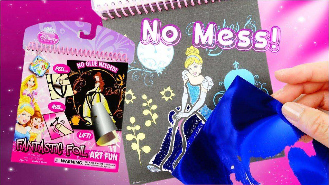 Disney Princess Fantastic Foil Metallic Coloring Art Kit Activity ...