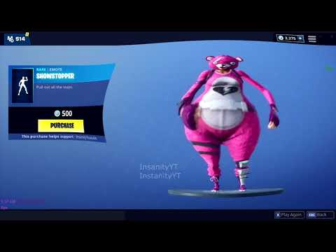 FORTNITE SHOWSTOPPER BASSBOOSTED