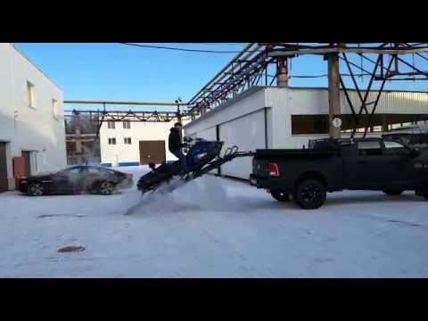 Dodge Ram 2500 Погрузка снегохода