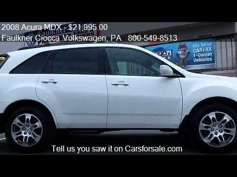 2008 Acura MDX Tech/Entertainment Pkg - for sale in Allentow - YouTube