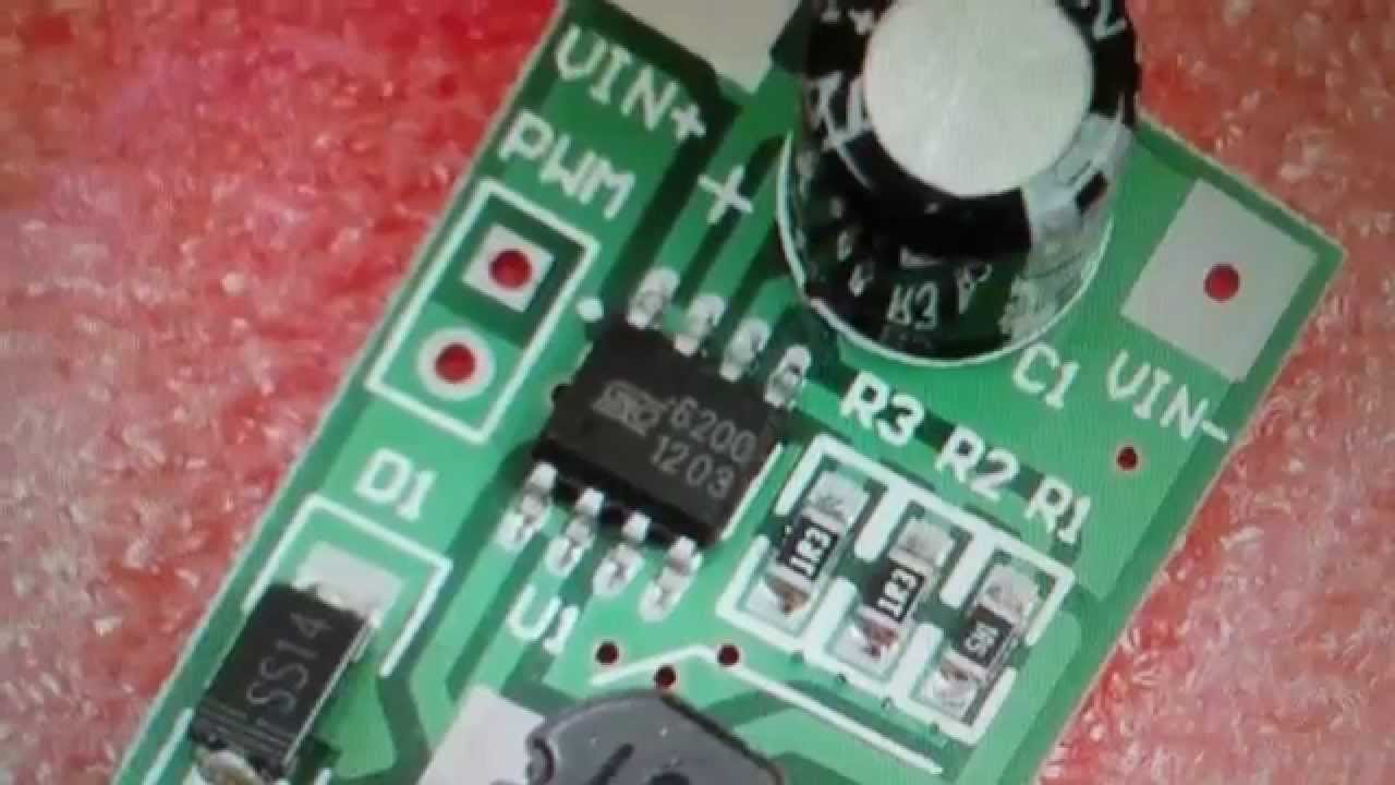Buck Converter 1 Watt White Led Driver Review 1w 350ma With The Elusive 6200 Chip Youtube
