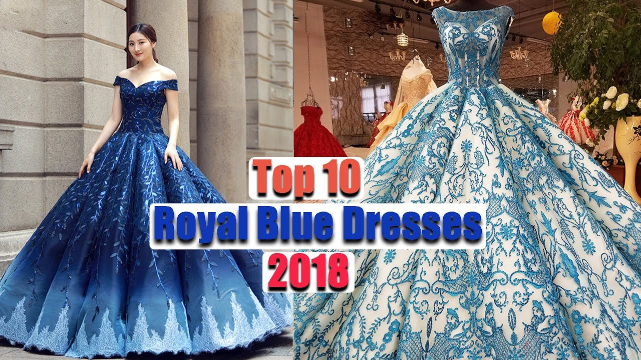 Top 10 Latest Royal Blue Prom Dresses 2018| Royal Blue Party Dresses ...