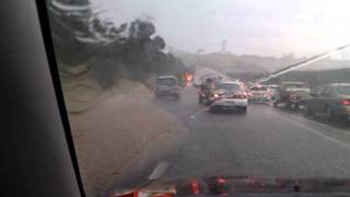 Xmas Day Tornado/Storm Melbourne - Western Ring Road Flooded