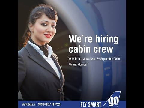 Air Hostess Job Walk In Interview Requirements - GO AIR