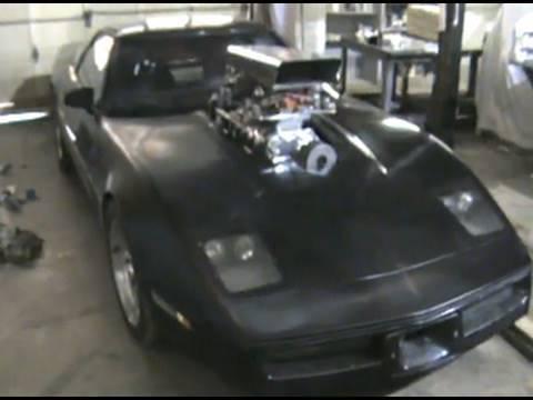 DARTH VETTE supercharged c4 Corvette: Mad Max style!
