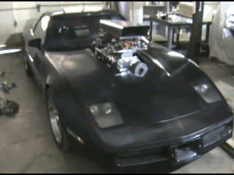 Darth Vette Supercharged C4 Corvette Mad Max Style Youtube