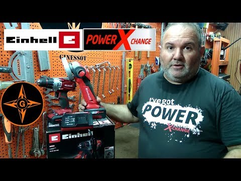 EINHELL POWER X-CHANGE TE-TK 18 LI KIT (atornillador y amoladora de bateria )