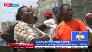 Drama in Thika County as Father and daughter kick the mother out of their home