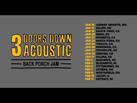 """3 Doors Down Acoustic """"Back Porch Jam"""" Tour 2018 Mp3"""