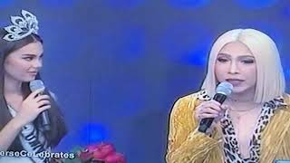 It's Showtime Miss Q and A: Catriona Gray our Queen Miss Universe!