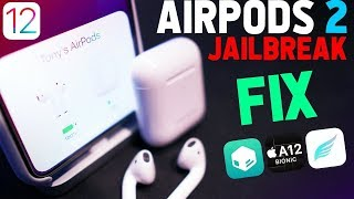 Best A12 FREE Jailbreak Tweaks - AirPods 2 FIXED on iOS 12 - 12.1.2! (Top Sileo Tweaks #1)