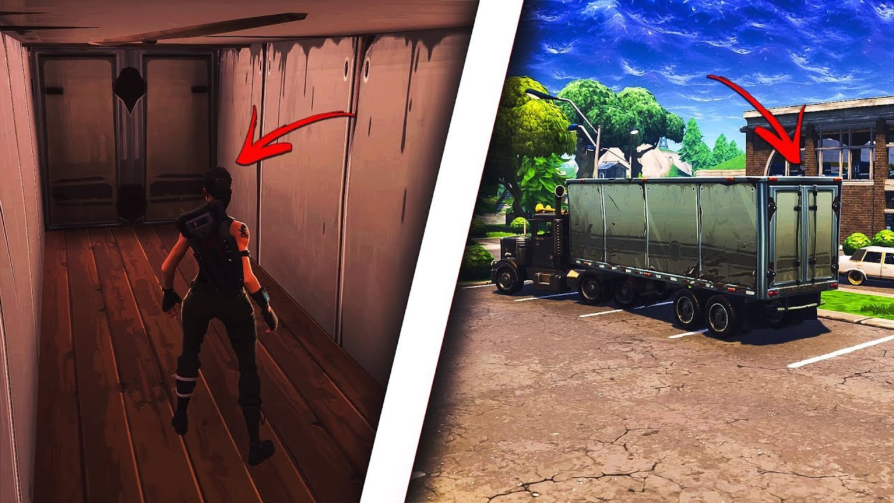 How to get INSIDE of ANY TRUCK in Fortnite! Get inside of trucks! (Fortnite Glitches)