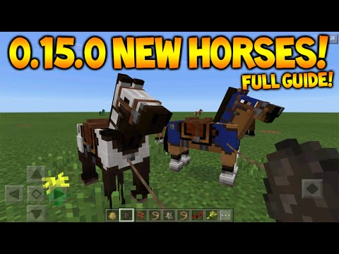 MCPE 0.15.0 HORSES!! Minecraft Pocket Edition 0.15.0 Horses, Donkey, Mules & Secret Mobs Guide
