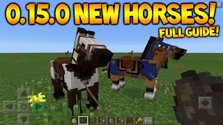 MCPE 0.15.0 HORSES!! Minecraft Pocket Edition 0.15.0 Horses, Donkey, Mules & Secret Mobs Guide