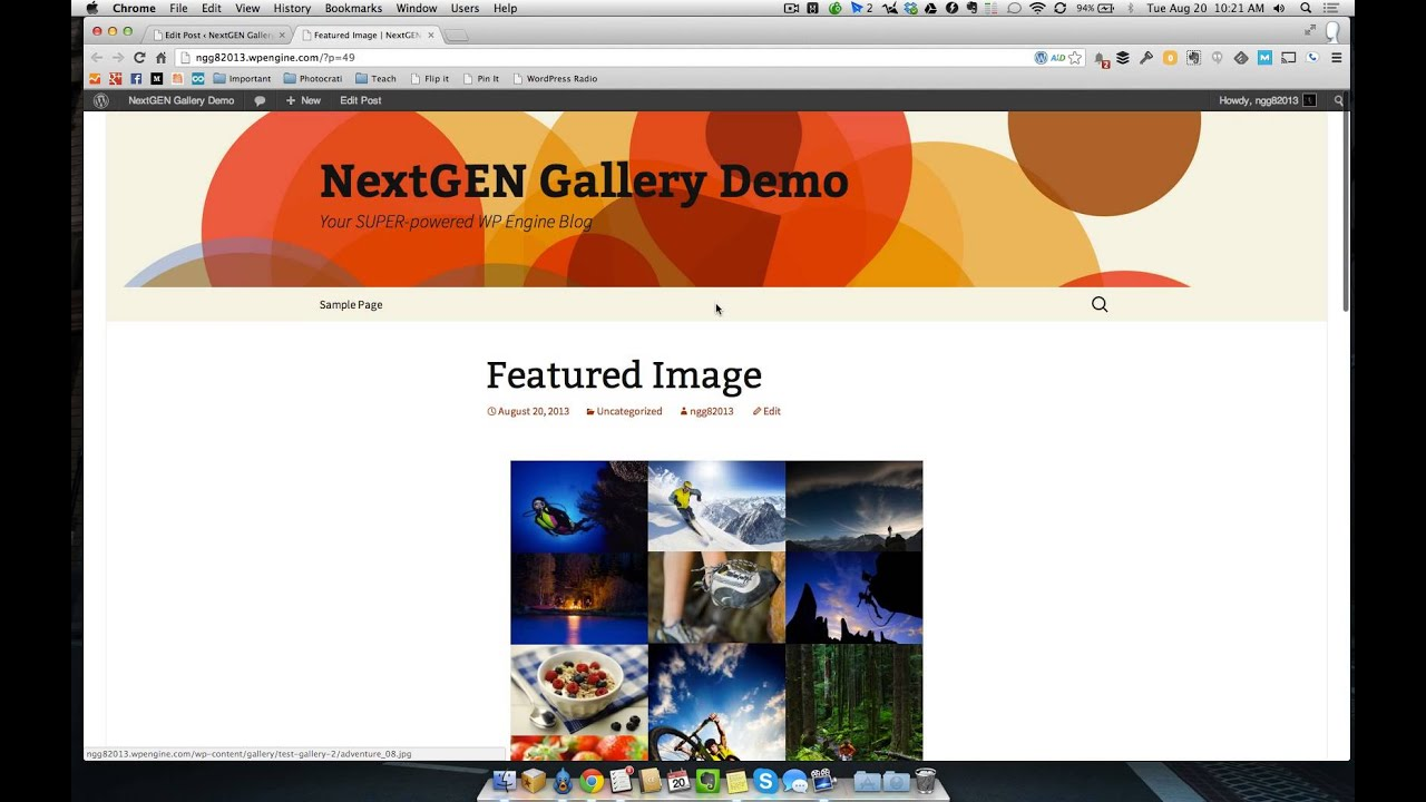 How to create a featured content gallery in wordpress - Featured Images With Nextgen Gallery