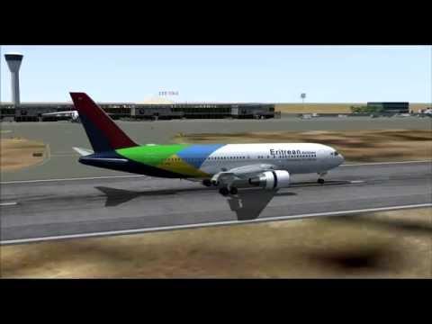 Eritrean Airlines B8345 767-200ER E3-AAQ Asmara (ASM) - Sharjah (SHJ)