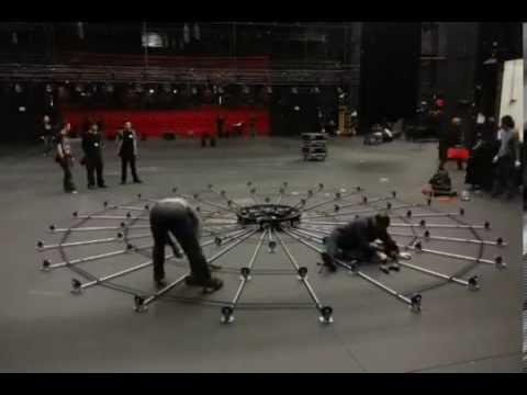 1st half of the revolve stage set up@kwai tsing theatre