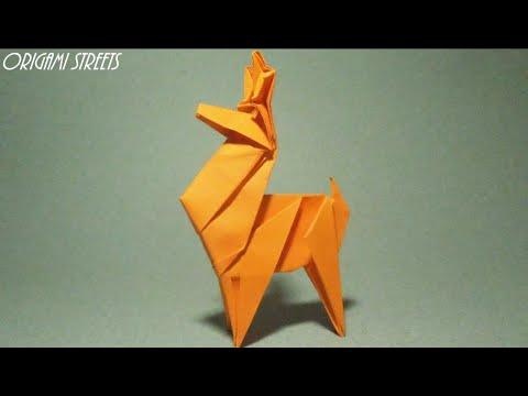 Как сделать ОЛЕНЯ ИЗ БУМАГИ. Оригами ОЛЕНЬ из бумаги