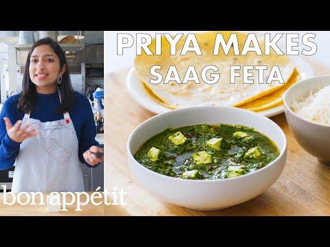 Priya Makes Saag Feta | From the Test Kitchen | Bon Apptit