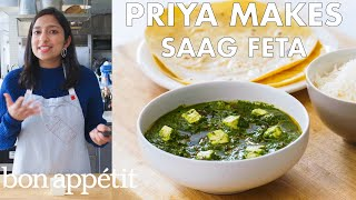 Download Priya Makes Saag Feta | From the Test Kitchen | Bon Appétit Mp3 and Videos