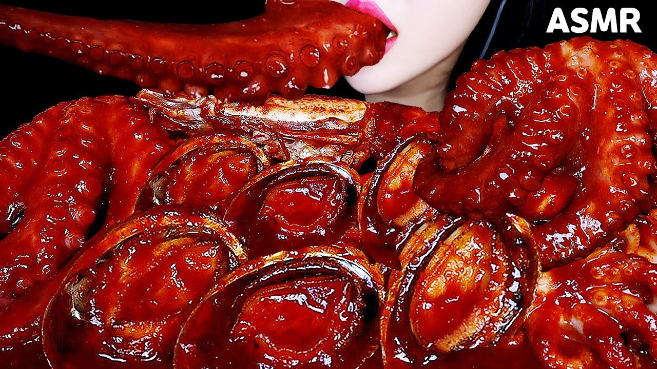 SPICY SEAFOOD BOIL ASMR MUKBANG 해물찜 먹방 대왕새우, 문어, 전복 EATING SOUND MUKBANG 해물찜 요리영상